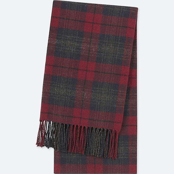 HEATTECH PATTERNED SCARF, RED, large