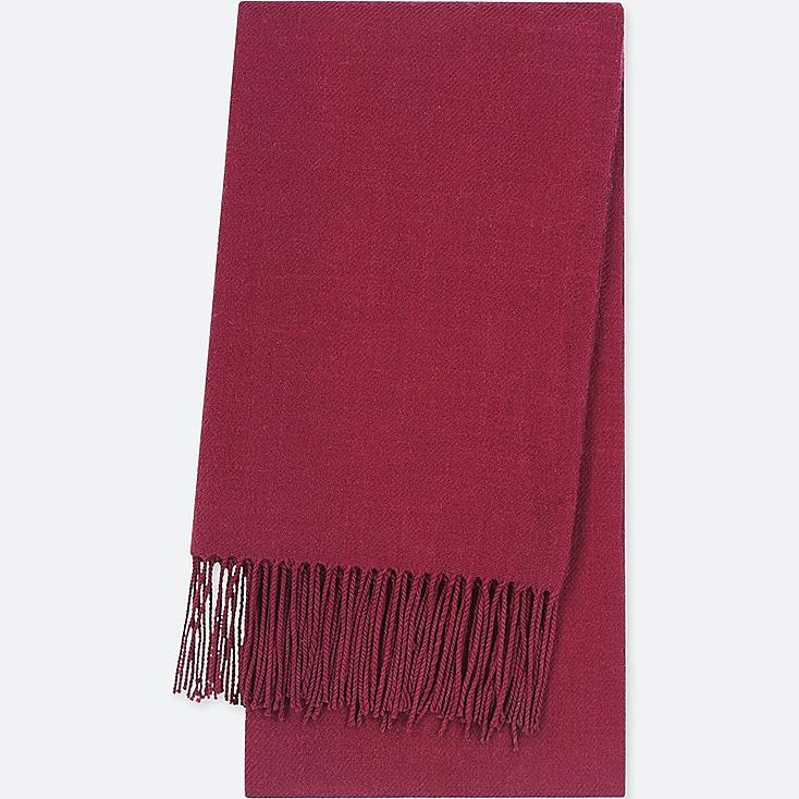 HEATTECH SCARF, RED, large