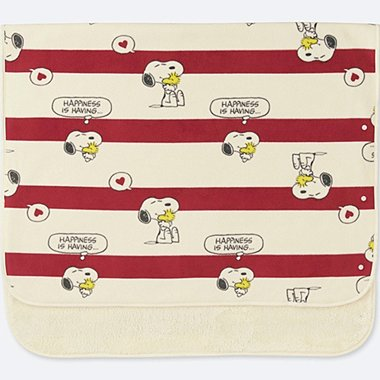 PEANUTS FLEECE BLANKET, RED, medium
