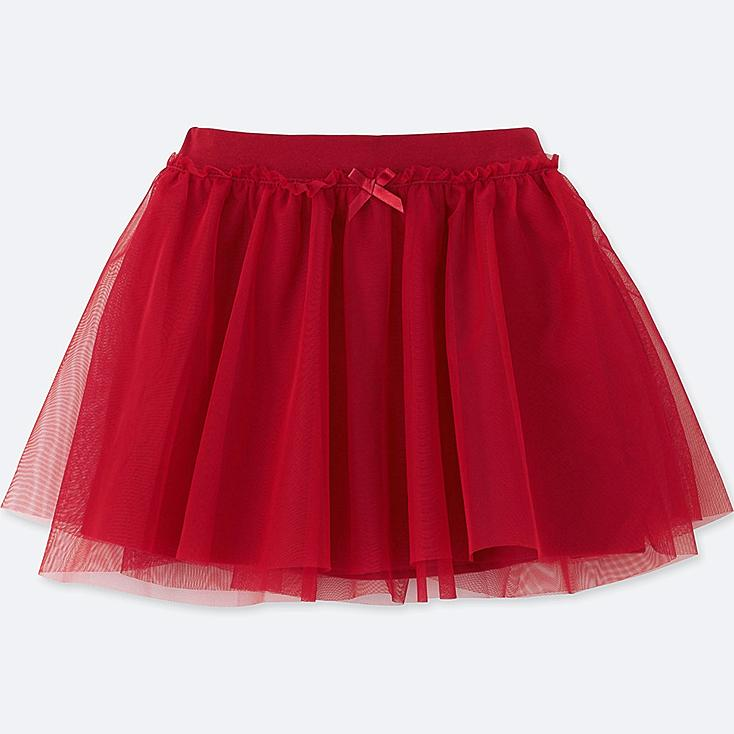 TODDLER TULLE SKIRT, RED, large