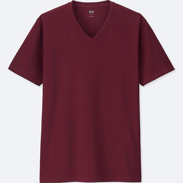 MEN SUPIMA® COTTON V-NECK SHORT-SLEEVE T-SHIRT, RED, large