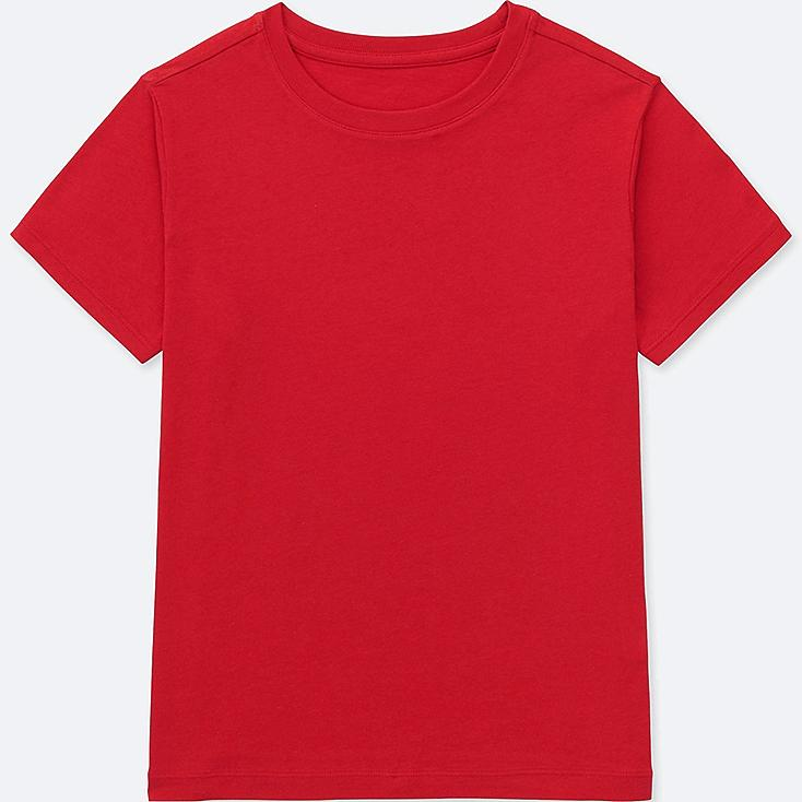 KIDS PACKAGED COLOR CREW NECK SHORT-SLEEVE T-SHIRT, RED, large