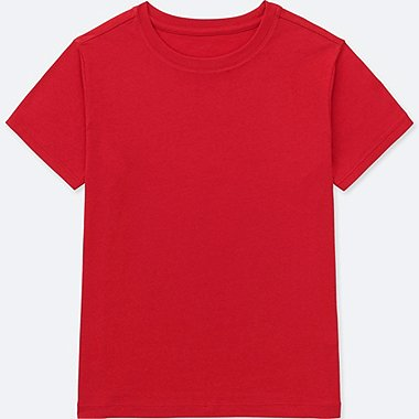 KIDS PACKAGED COTTON COLOR CREWNECK SHORT-SLEEVE T-SHIRT, RED, medium