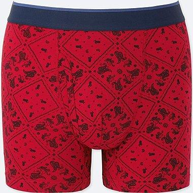 MEN SUPIMA® COTTON BOXER BRIEFS, RED, medium