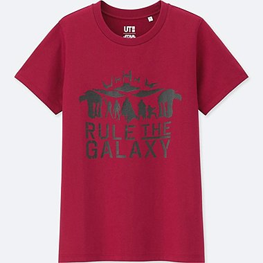 WOMEN STAR WARS: THE LAST JEDI GRAPHIC T-SHIRT, RED, medium