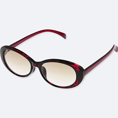 OVAL SUNGLASSES, RED, medium