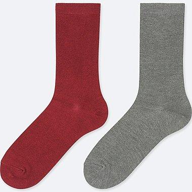 WOMEN HEATTECH SOCKS (2 PAIRS), RED, medium