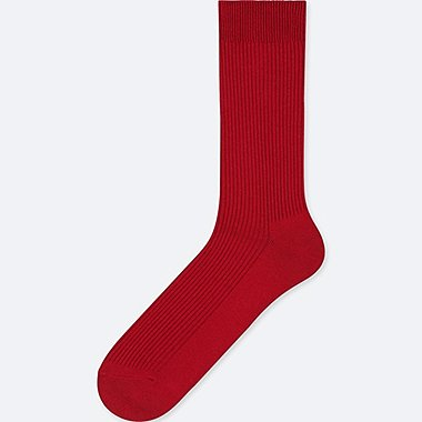 MEN COLOR SOCKS, RED, medium