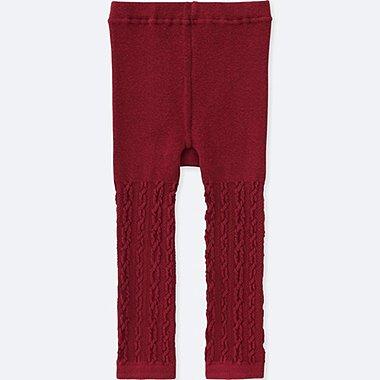 TODDLER KNITTED LEGGINGS, RED, medium