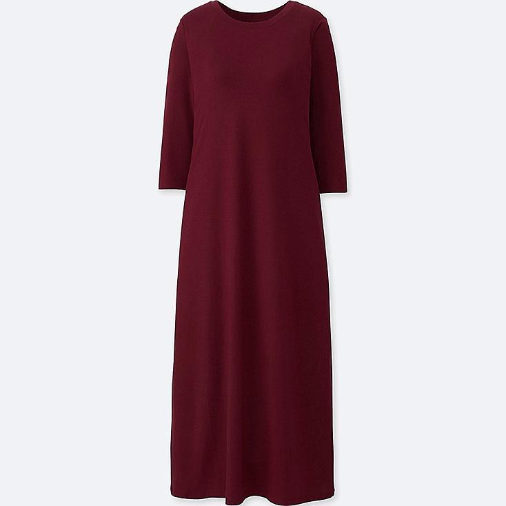 WOMEN 3/4 SLEEVE BRA DRESS (ONLINE EXCLUSIVE), RED, large
