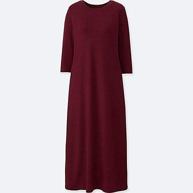 WOMEN 3/4 SLEEVE BRA DRESS (ONLINE EXCLUSIVE), RED, medium