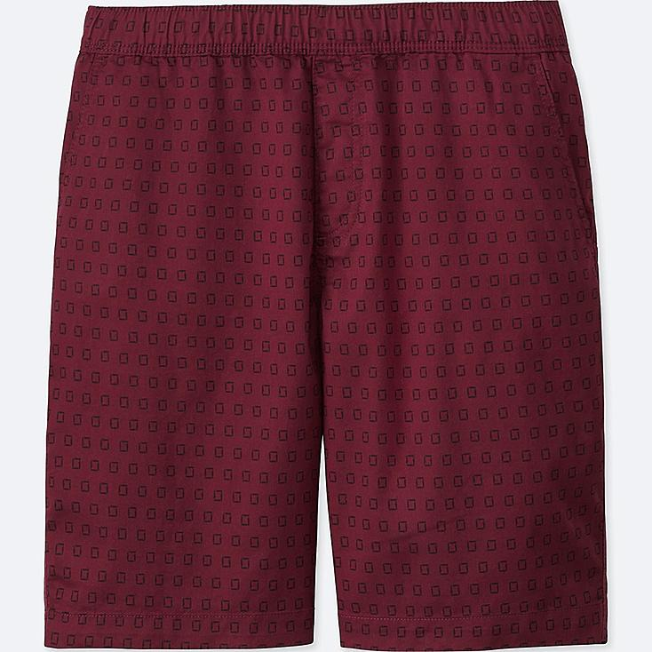 MEN DRY STRETCH WOVEN EASY SHORTS, RED, large