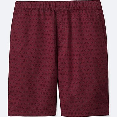 MEN DRY STRETCH WOVEN EASY SHORTS, RED, medium
