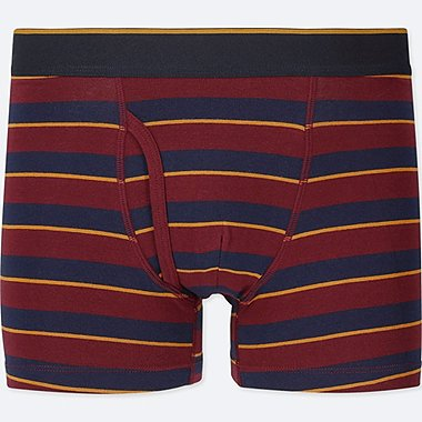 MEN SUPIMA® COTTON BOXER BRIEFS, RED, medium