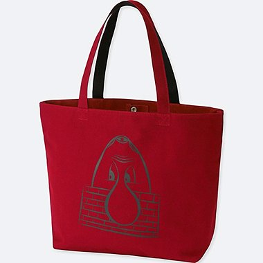SPRZ NY BARRY MCGEE TOTE BAG, RED, medium