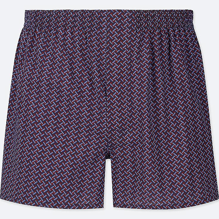 MEN WOVEN PRINTED BOXERS, RED, large