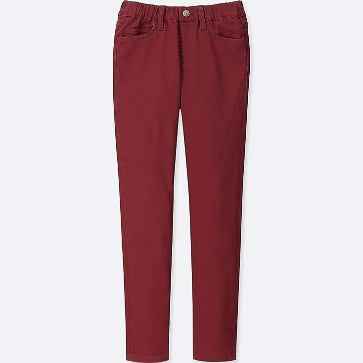 BOYS ULTRA STRETCH RELAXED PANTS, RED, large