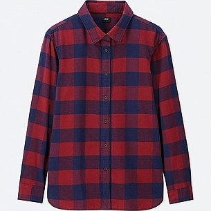 WOMEN FLANNEL CHECKED LONG-SLEEVE SHIRT/us/en/women-flannel-checked-long-sleeve-shirt-412258.html