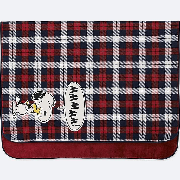 PEANUTS FLEECE LARGE BLANKET, RED, large