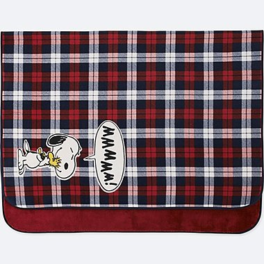 PEANUTS FLEECE LARGE BLANKET, RED, medium