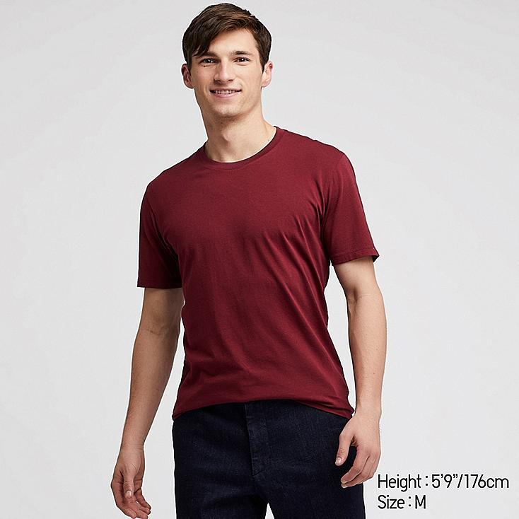 MEN SUPIMA® COTTON CREW NECK SHORT-SLEEVE T-SHIRT, RED, large