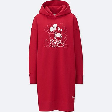 WOMEN MICKEY ART LONG SLEEVED SWEATSHIRT DRESS