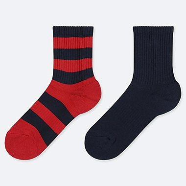 BOYS STRIPED REGULAR SOCKS (TWO PAIRS)
