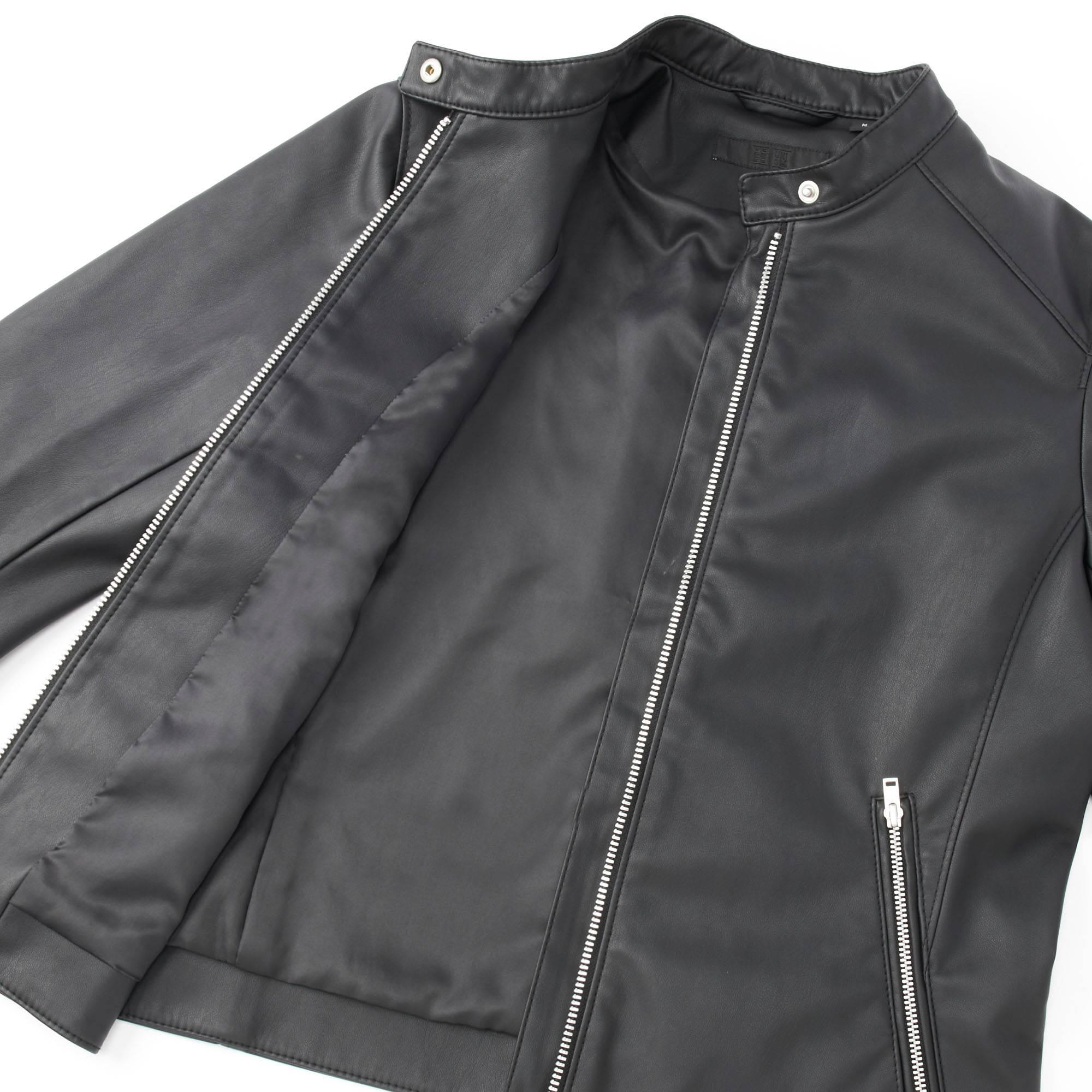 Leather jacket uniqlo - Women Riders Single Jacket Black Small