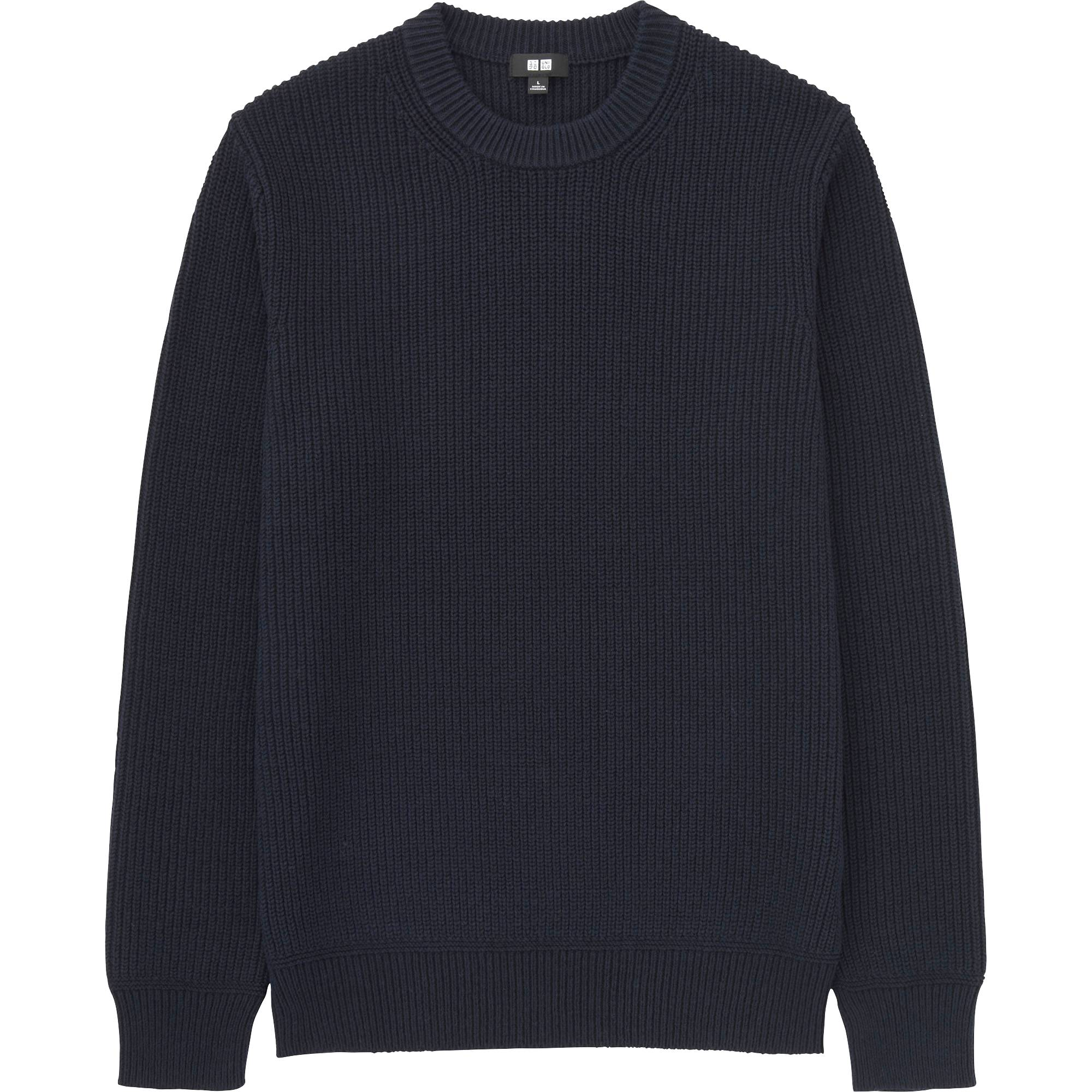 MEN RIBBED CREWNECK SWEATER | UNIQLO US