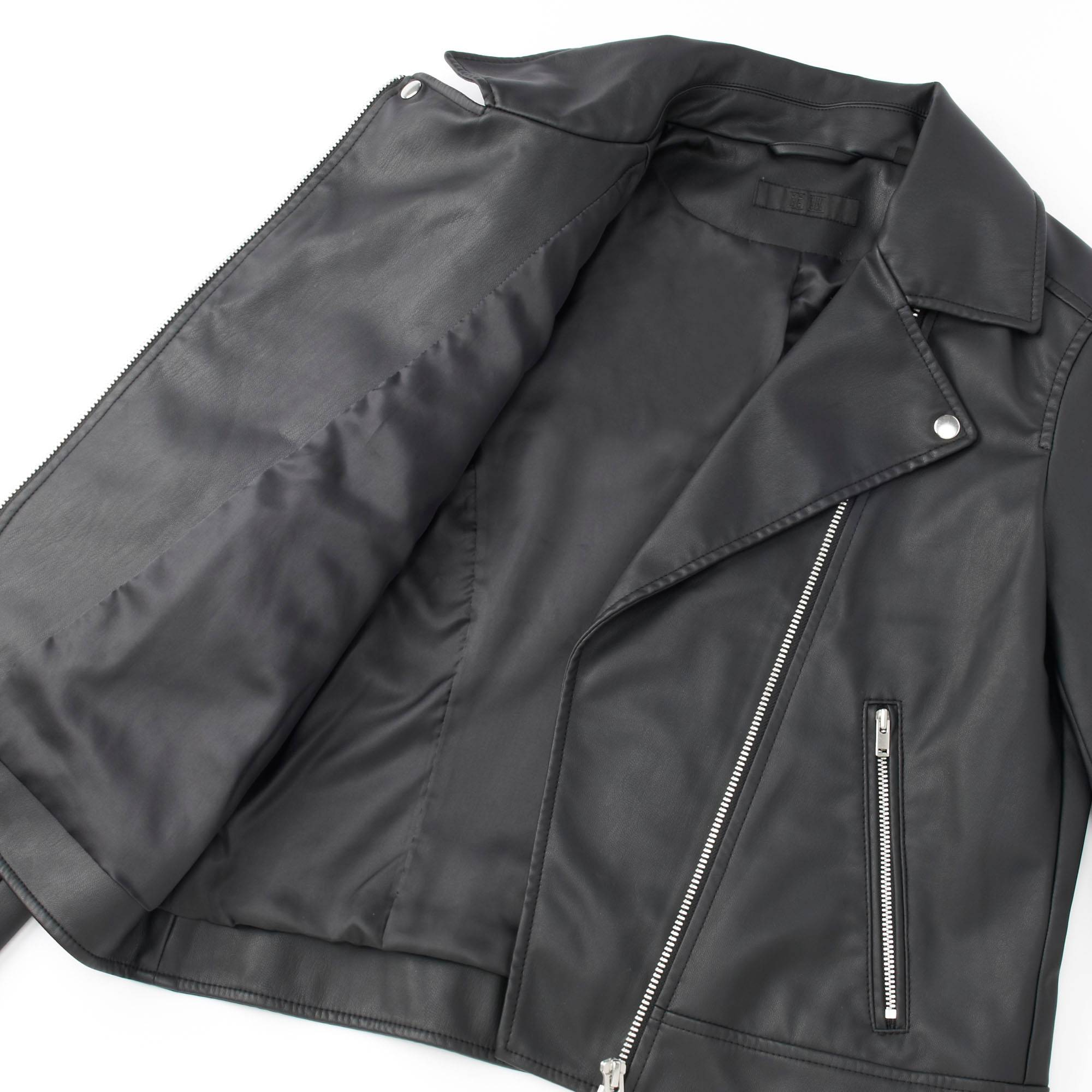 Leather jacket uniqlo - Women Moto Jacket Black Small