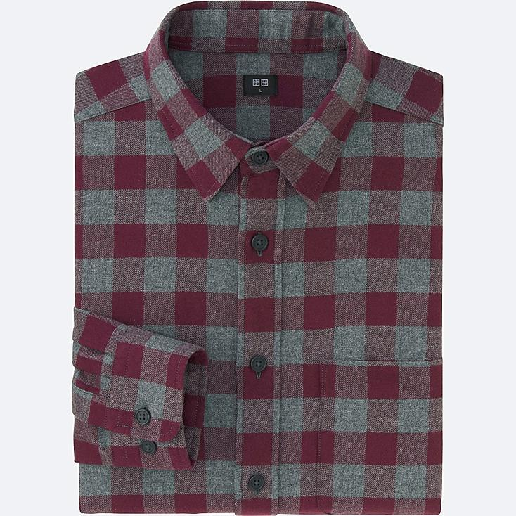 Men Flannel Buffalo Check Long Sleeve Shirt Uniqlo Us