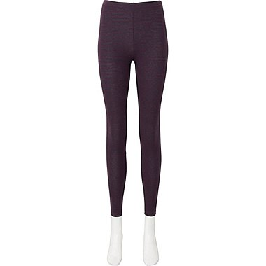WOMEN LEGGINGS (STRIPE), WINE, medium