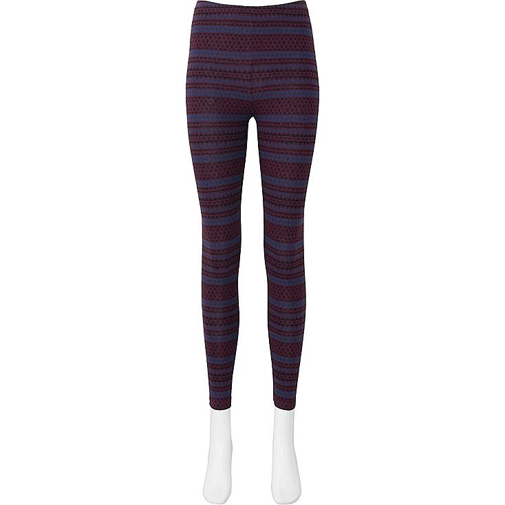 WOMEN LEGGINGS (FAIR ISLE), WINE, large