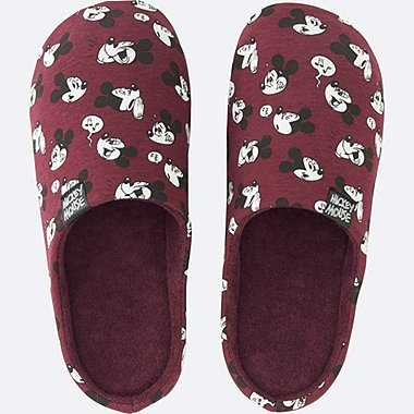 DISNEY COLLECTION SLIPPERS, WINE, medium