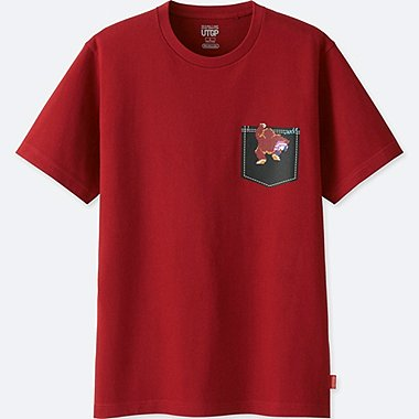 MEN UTGP (NINTENDO) SHORT-SLEEVE GRAPHIC T-SHIRT, WINE, medium