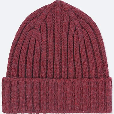 HEATTECH KNITTED CAP, WINE, medium