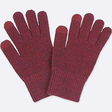 MEN HEATTECH KNITTED touchscreen GLOVES