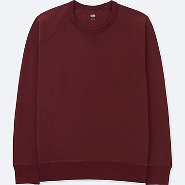 MEN LONG-SLEEVE SWEATSHIRT, WINE, medium