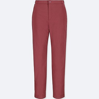 WOMEN BLOCKTECH WARM-LINED PANTS, WINE, medium
