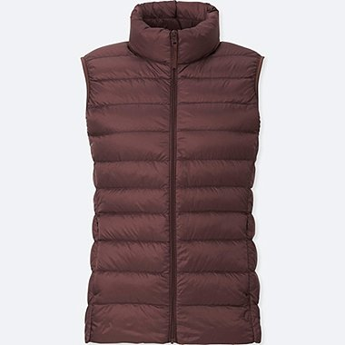 Women Ultra Light Down Vest, WINE, medium
