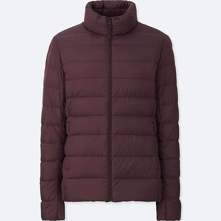 Women Ultra Light Down Jacket, WINE, large