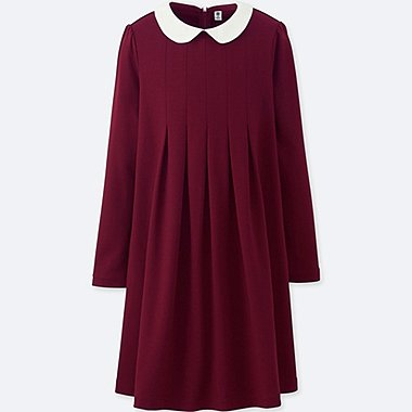 GIRLS TUCK LONG SLEEVE DRESS