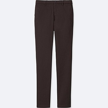 MEN ULTRA STRETCH SKINNY CHINO FLAT-FRONT PANTS, WINE, medium