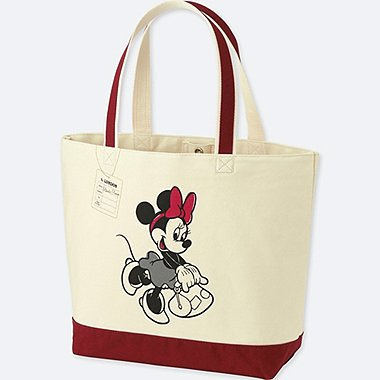 MICKEY TRAVELS TOTE BAG, WINE, medium