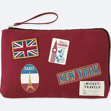 MICKEY TRAVELS POUCH, WINE, medium