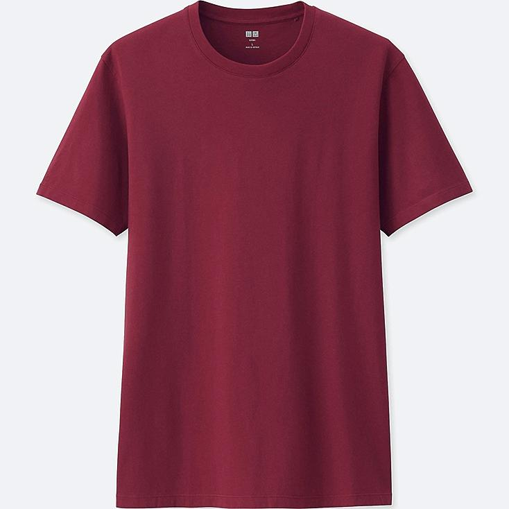 MEN SUPIMA® COTTON CREW NECK SHORT-SLEEVE T-SHIRT, WINE, large