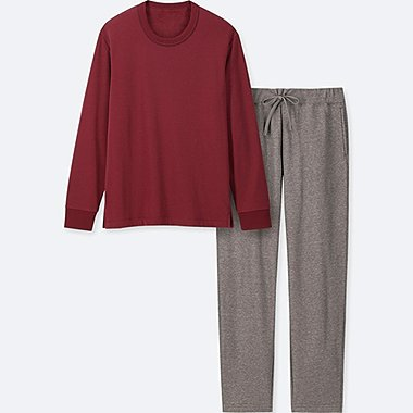 HERREN LANGÄRMLIGES LOUNGE-SET MIT FLEECE-FUTTER