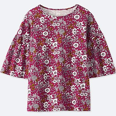 WOMEN STUDIO SANDERSON FLORAL PRINTED GRAPHIC T-SHIRT