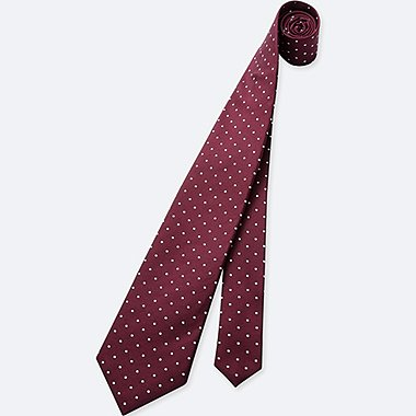 MEN DOT PRINT SILK TIE