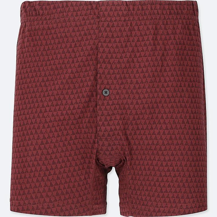 MEN KNIT BOXERS, WINE, large